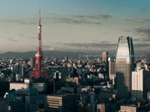 Tokyo Tower – Mt Fuji (background).