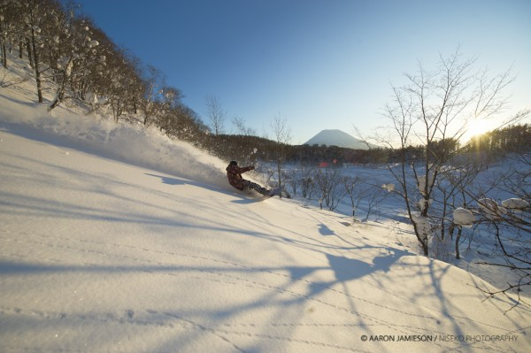 Lachy, Youtei, Sunset - cat skiing - awesome.