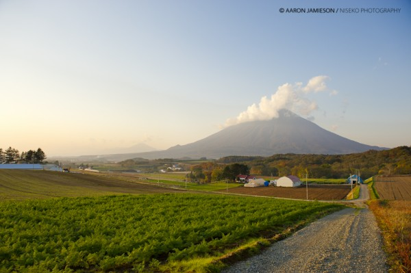 Niseko farms with Youtei and Annupuri in the background.